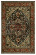 Sovereign, 00990/14601, Maharajah Navy Area Rug, 100% New Zealand Wool
