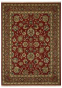 Sovereign, 00990/14606, Sultana Red Area Rug, 100% New Zealand Wool