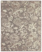 Saphir Zam, 3112F, Pewter/Gray Area Rug, VISCOSE/CHENILLE