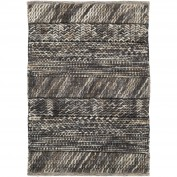 Norway, NOR-3701, Black, Light Gray, Camel, Beige Area Rug, 100% Wool - Felted