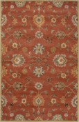 Poeme, PM129, Orange Area Rug, 100% Wool