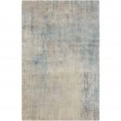 Watercolor, WAT-5000, Teal, Ivory, Camel, Light Gray, Medium Gray, Taupe, Charcoal Area Rug, 100% Wool