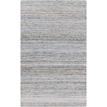 Zola, ZOL-3000, Denim, Dark Blue, Navy, Cream (2'x3' / Runner) Rug, 50% Cotton, 50% Wool