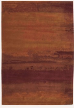 CK10 LUSTER WASH, SW01 RUS, RUST (3'x5' / Rectangle) Rug, 100% WOOL PILE