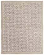 Saphir Zam, 3097F, Pewter/Light Gray Area Rug, VISCOSE/CHENILLE