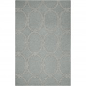 Modern Classics, CAN-1990, Medium Gray Area Rug, 100% New Zealand Wool