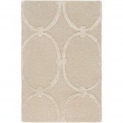 Modern Classics, CAN-1991, Khaki Area Rug, 100% New Zealand Wool