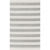 Cosmopolitan, COS-9252, Medium Gray, White Area Rug, 100% Polyester