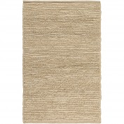 Continental, COT-1930, Cream Area Rug, 100% Jute