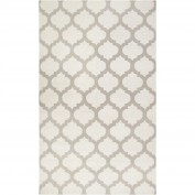 Frontier, FT-120, White, Light Gray Area Rug, 100% Wool