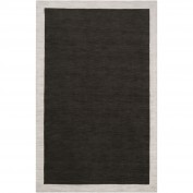 Madison Square, MDS-1004, Black, Ivory Area Rug, 100% Wool